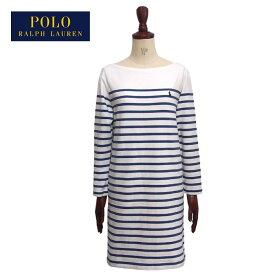 ラルフローレン ポロ レディース ポニー刺繍 ボーダー ワンピース チュニック/クリームブルーPOLO Ralph Lauren Dress