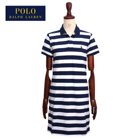 ラルフローレン ポロ レディース ポニー刺繍 ボーダー ポロワンピース/ネイビーPOLO Ralph Lauren Dress