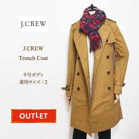 【難あり アウトレット】【送料無料】ジェイクルー レディース トレンチコート/ベージュ J.CREW Coat