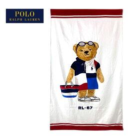 ラルフローレン ポロ ビーチスタイル ポロベアー ビーチタオル ガール/89×168cmPOLO Ralph Lauren POLOBEAR Beach Girl Towel