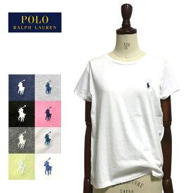 【メール便送料無料】 ポロ ラルフローレン レディース コットン クルーネック Tシャツ ワンポイント 半袖 女性 POLO Ralph Lauren T-Shirt