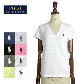 【メール便送料無料】 ポロ ラルフローレン レディース コットン ソリッド Vネック Tシャツ 半袖 女性 POLO Ralph Lauren T-Shirt