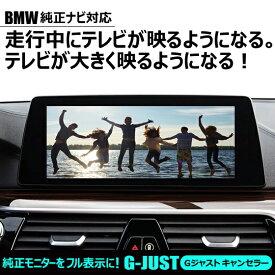 BMW10.2インチ純正ナビ|走行中もTVが映る・TVが大きく映るようになる・ナビ操作ができる「G-JUSTキャンセラー」