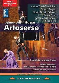 アドルフ・ハッセ:歌劇「アルタセルセ」3幕 (1730年ヴェニス初演版)[DVD,2Discs]