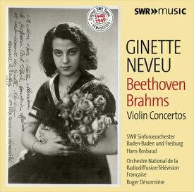 オリジナルSWRテープ・リマスター 1948-1949 ジネット・ヌヴー(ヴァイオリン) ベートーヴェン&ブラームス:ヴァイオリン協奏曲集[2枚組]