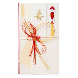 エヌビー社 寿金封 純麗   ご祝儀袋 紅白 短冊2種類入 寿 ご結婚御祝 説明書入 大人 上品 御祝儀袋 結婚式 披露宴 金 水引 おしゃれ