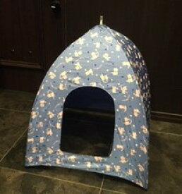 キャットルーム 猫トイレカバー 青猫柄 猫 ペット テント 猫トイレ 猫テント ネコトイレ ネコ 開くだけ簡単ワンタッチ キャットテント ネコ部屋