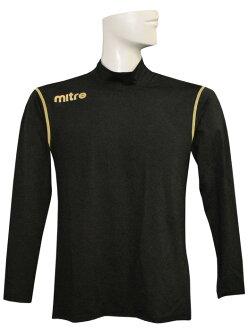 米特雷 / 壓縮高頸部長袖內襯衫和黑 X 金