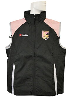 (A lot) Lotto/06/07 Palermo and waterproof wind vest / black X pink