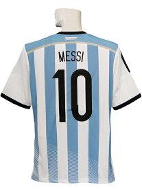 【送料無料】(アディダス) adidas/14/15アルゼンチン代表/ホーム/半袖/メッシ/2014ワールドカップバッジ+FOOTBALL FOR HOPEバッジ付/AI216-G74569