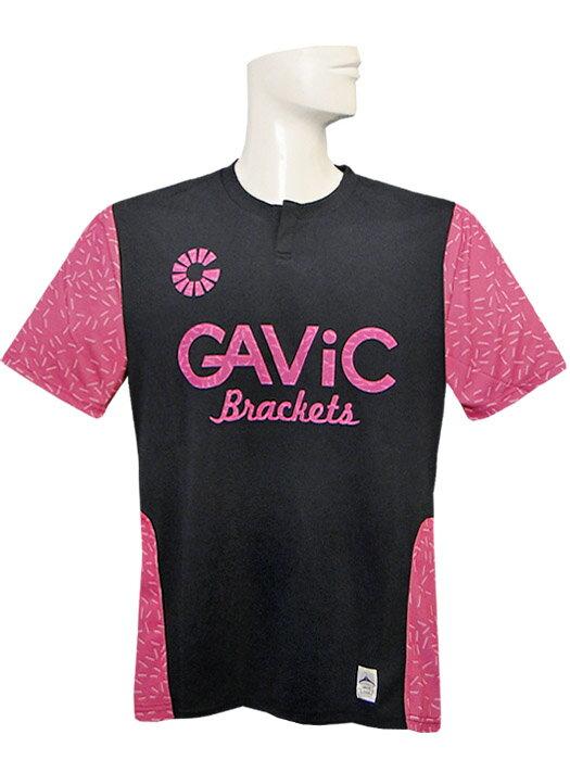 (ガビック) GAVIC/昇華プラクテイスシャツ/半袖/ネイビーXピンク/GA8164/簡易配送(CARDのみ/送料注文後変更/1点限/保障無)