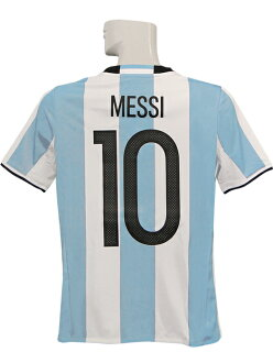 (Adidas) /BHU21-AK0049 for the representative from adidas/16/17 Argentina / home / short sleeves / Messi / youth