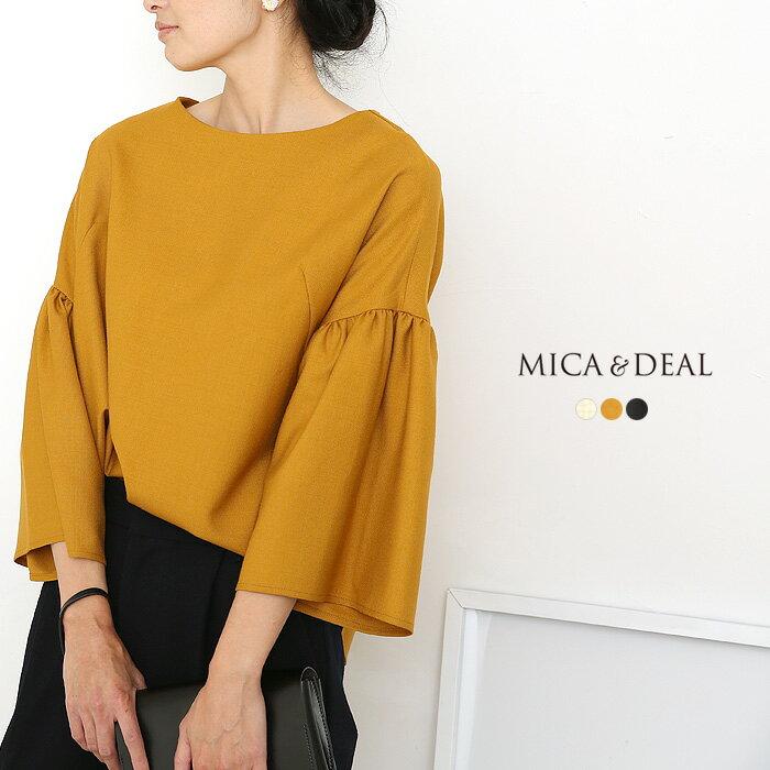 【ネット限定ファイナルセール40%OFF】**【18AWコレクション】MICA&DEAL〔マイカアンドディール〕M18C153gathered sleeve blouse/ギャザースリーブワイドシルエットブラウス【P2】