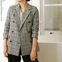 【18AWコレクション】MICA&DEAL〔マイカアンドディール〕M18C166double jacket/ボックスシルエットダブルジャケット【P2】