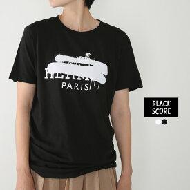 **【19AWコレクション】BLACK SCORE〔ブラックスコア〕10391008HERMES CROSS/ハンドプリントロゴTシャツ