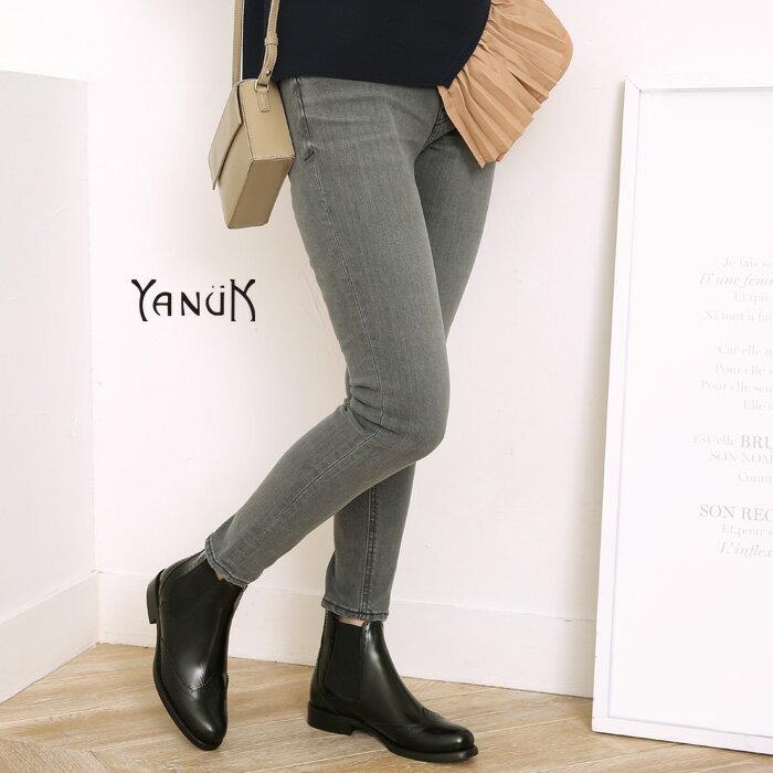 **【18AWコレクション】YANUK〔ヤヌーク〕57183049-IPATRICIA ANKLE/スキニーデニムパンツ(Used Gray)