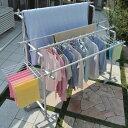 ティアンドエヌ 日本製 物干し 屋外 ベランダ に最適の安定性抜群の多機能物干し台 竿4本付 伸縮式3段物干し タオル掛…