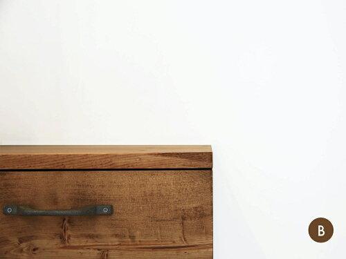 レコードキャビネット無垢収納オーディオキャビネットシャビー天然木コンソール