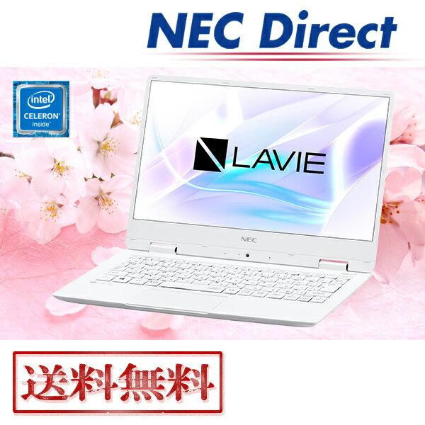★台数限定アウトレット★【送料無料:Web限定モデル】NECノートパソコンLAVIE Direct NM(Celeron搭載・パールホワイト)(Officeなし・1年保証)(Windows 10 Home)
