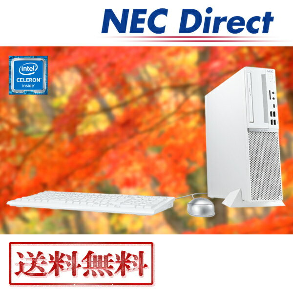【送料無料:Web限定モデル】NECデスクトップパソコンLAVIE Direct DT(Celeron搭載・モニターなし)(Officeなし・1年保証)(Windows 10 Home)