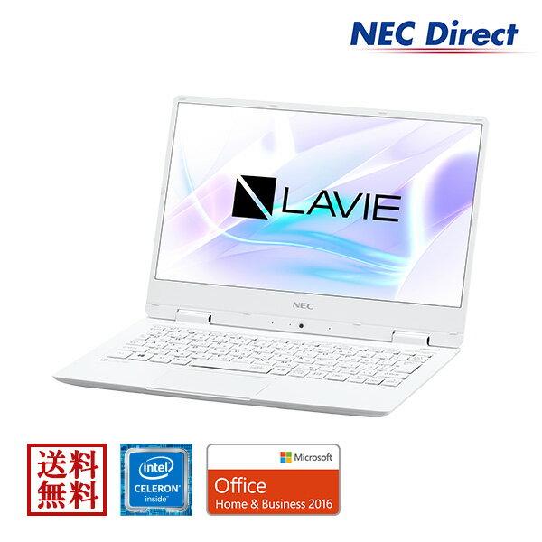 ★台数限定アウトレット★【送料無料:Web限定モデル】NECノートパソコンLAVIE Direct NM(Celeron搭載・パールホワイト)(Office Home & Business 2016・1年保証)(Windows 10 Home)