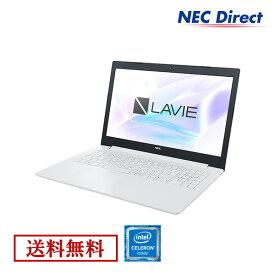 【エントリーでP最大7倍!9月24日01:59迄】●【送料無料:Web限定モデル】NECノートパソコンLAVIE Direct NS(Celeron搭載・カームホワイト)(Officeなし・1年保証)