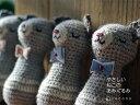 necono 猫 おもちゃ 『ねこのあみぐるみ』 日本製ウール アルパカ 手編み ネコキック 一人遊び おもちゃ 青 赤 …
