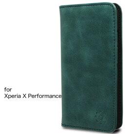 Xperia X Performance エクスペリア ケースカバー 手帳型 本革 レザー 財布型 カードポケット スタンド機能 マグネット式 docomo SO-04H au SOV33 softbank 502SO 対応 Xperia X Performance, ネイビー
