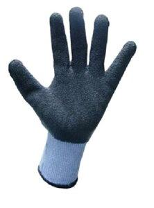 ゴムリキ【M・L】ゴム手袋【色:黒/紫】強力ポリエステル+ゴムコーティング【1双入】【富士手袋工業】