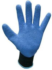 ゴムリキ【M・L】ゴム手袋【色:青/黒】強力ポリエステル+ゴムコーティング【1双入】【富士手袋工業】