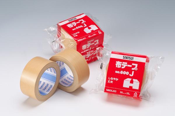 【布テープ】セキスイ♪#600J【100mm×25M】箱/18ヶ入【梱包テープ・ガムテープ】