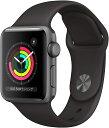Apple Watch Series 3 GPSモデル 38mm スペースグレイアルミニウムケースとブラックスポーツバンド 正規品