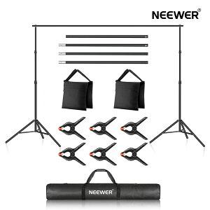 【◆ポイント5倍】Neewer 写真スタジオ背景サポートシステム 3*2.1m 調節可能な背景スタンド 4つのクロスバー、6つの背景クランプ、2つのサンドバッグ、およびキャリングバッグ付き ポ