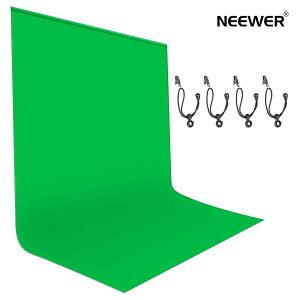 Neewer 背景布 緑 180x280cm 写真背景 バックグラウンド グリーンクロマキー背景 写真/ビデオ/スタジオ/フィルム/テレビ用 背景クリップ4つ付き