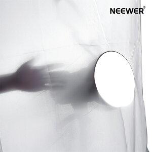 Neewer 1.8x1.5m ポリエステルホワイトシームレス拡散布 白いシームレスな拡散ディフューザー 写真ソフトボックス、ライトテントや照明に対応