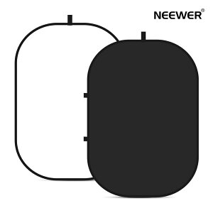 Neewer 両面背景布 クロマキー 折りたたみ式 黒白/青灰/緑青兼用 2-in-1 両面ポップアウトツイストバックグラウンド 150x200cm 収納ケース付き