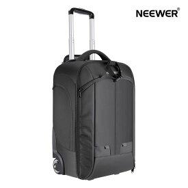 Neewer 2-in-1 カメラバックパック 荷物トロリーケース コンバーチブルホイール ダブルバー 耐衝撃性の取り外し可能なパッド入りコンパートメント SLR/DSLRカメラ、三脚、レンズ、その他のアクセサリーに対応(ブラック/グレー)