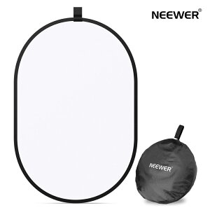 Neewer 写真スタジオ照明リフレクター 折りたたみ可能なソフトディフューザーディスクパネル キャリングケース付き スタジオ&屋外ポートレート、製品写真、ビデオ撮影に対応(100 x 150 cm)