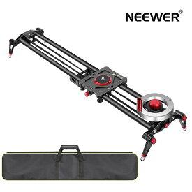 Neewer 80cmカメラスライダー ビデオトラックドリーレールスタビライザー フライホイールカウンターウェイト 軽量カーボンファイバーレール、調整可能な脚、キャリーバッグ、DSLRカメラカムコーダートラック付き 撮影用