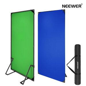 Neewer クロマキーグリーンクロマキーブルーの背景 背景バナースタンド付き 1x2m クロマキーブルー/グリーンフラットパネル 2-in-1折りたたみ式写真用背景(キャリングバッグ付属)