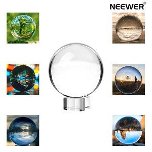 【ランキング1位獲得!!】Neewer 80mm/3inch 水晶玉 高品質 クリアクリスタルボールグローブ クリスタルスタンド付き 風水、占いやウェディング、ホーム、オフィスデコレーション用