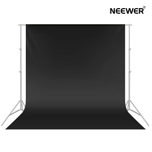 Neewer 2.8 x 4m撮影用背景布 ビデオスタジオ用ポリエステル背景布 黒