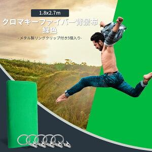 Neewer 6x9ft/1.8x2.7m ポリエステル背景布(緑) 5つリングメタル保持クリップ付き 写真ビデオスタジオに適用 肖像画や製品の撮影に最適