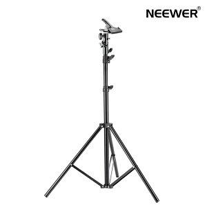 Neewer 190cmライトスタンド ヘビーデューティ金属製クランプホルダー付き レフ板などに対応 写真スタジオ撮影用