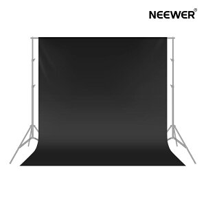 Neewer 1.8x2.8M背景布 ポリエステル製 背景シート バックスクリーン 折り畳み 撮影やビデオなどに対応【黒】