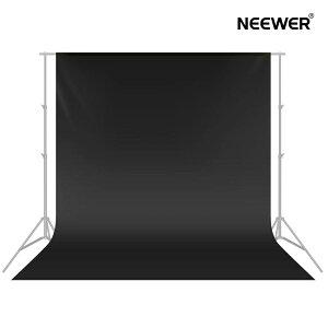 Neewer 3x3.6M背景布 背景シート ポリエステル 無反射 折りたたみ可能 写真 ビデオ テレビに対応【黒】