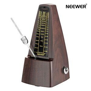 Neewer NW-707メカニカルメトロノーム ピアノ、ギター、ドラムなどの楽器に適用(茶色)