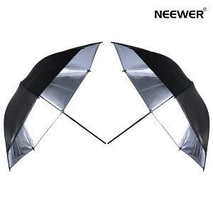 Neewer【2個入り】33インチ プロな撮影用アンブレラ 黒/銀傘 頑丈 折りたたみ式 使用簡単 反射照明傘 ポートレート/製品写真の使用に最適