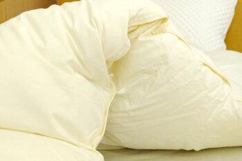 羽毛布団クイーンマザーグースダウン95%国内洗浄80超長綿サテン最高級羽毛布団「極」210×210cmプレミアムゴールド