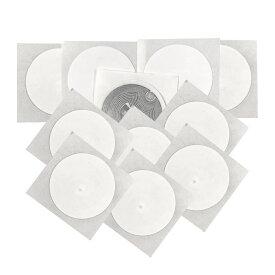 【100枚セット】 NTAG 213ステッカー NFCチップステッカーカード タグブランク 円形 直径25mm PVC材質 多用途 ホワイト 貼る 表面印刷可 スマホNFC機能対応
